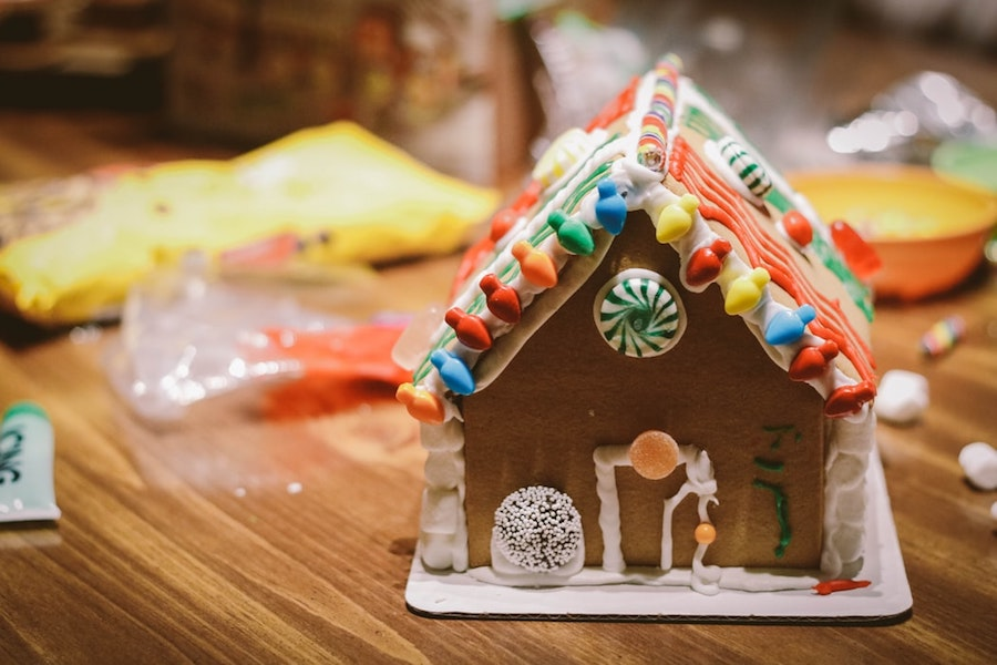 A gingerbread house, part of one of the Broomfield Holiday Events.